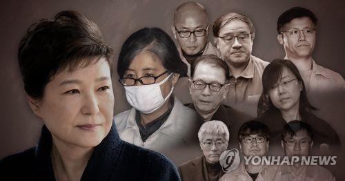 박근혜 전 대통령 구속. 연합뉴스